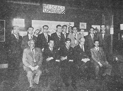 Participantes del I Torneo Internacional del Ajedrez Condal Club, 1934