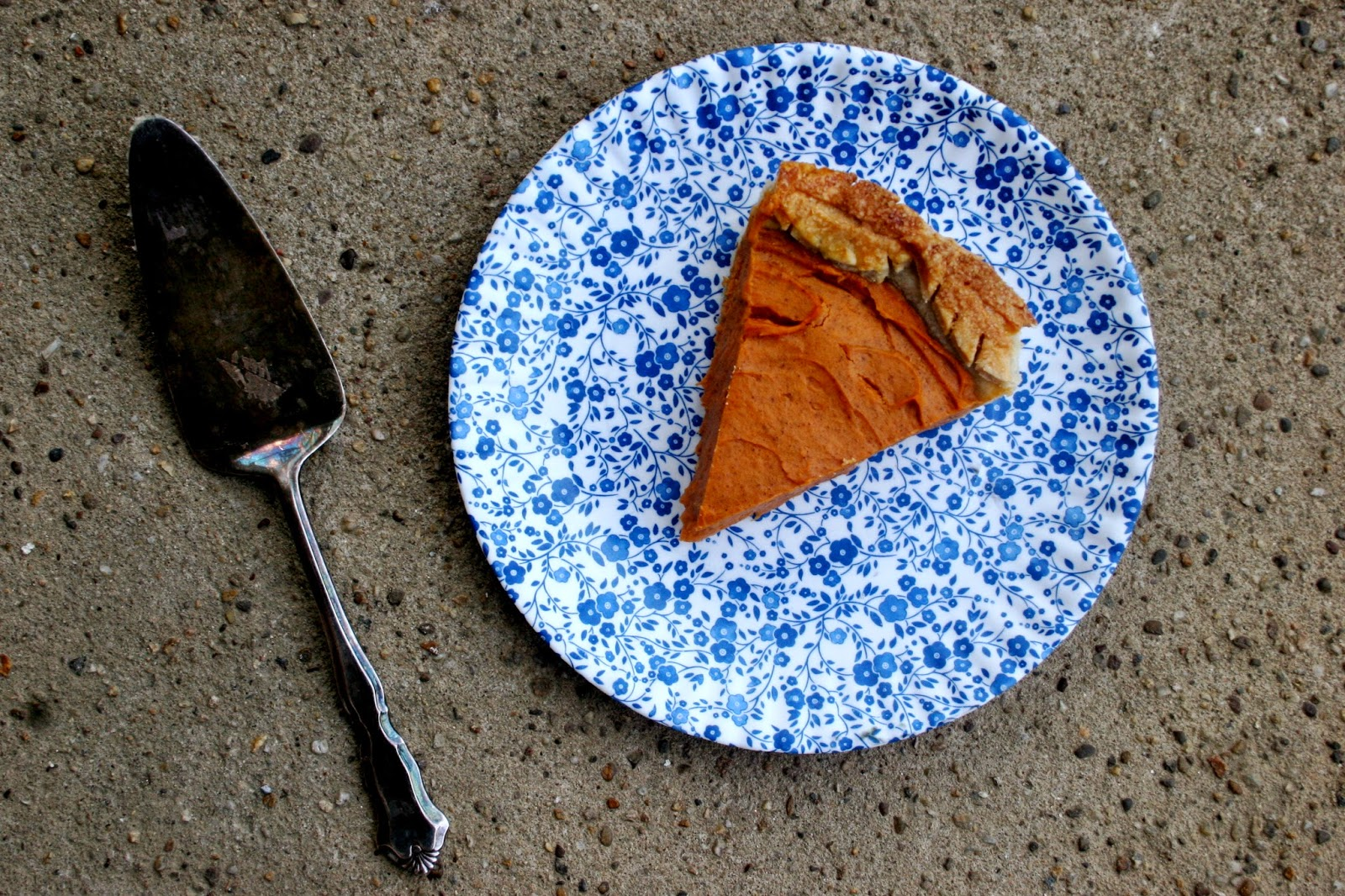Sweet Potato Pie with Cornmeal Crust slice