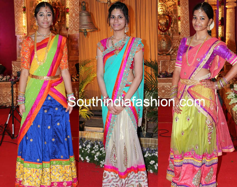 teenagers half saree blouse models