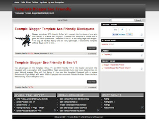Template Blogger Seo Friendly B-Seo V1