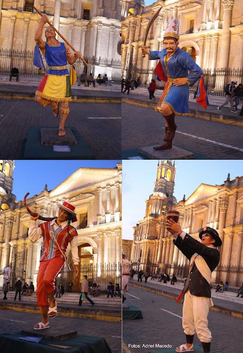Danzas del Colca en esculturas