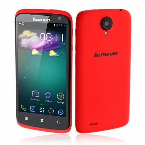 Harga dan Spesifikasi Smartphone Lenovo S820 Warna Merah