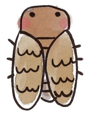アブラゼミのイラスト(蝉・虫)