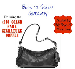 Enter for your chance to win a $279 Coach duffle. Ends 9/13.