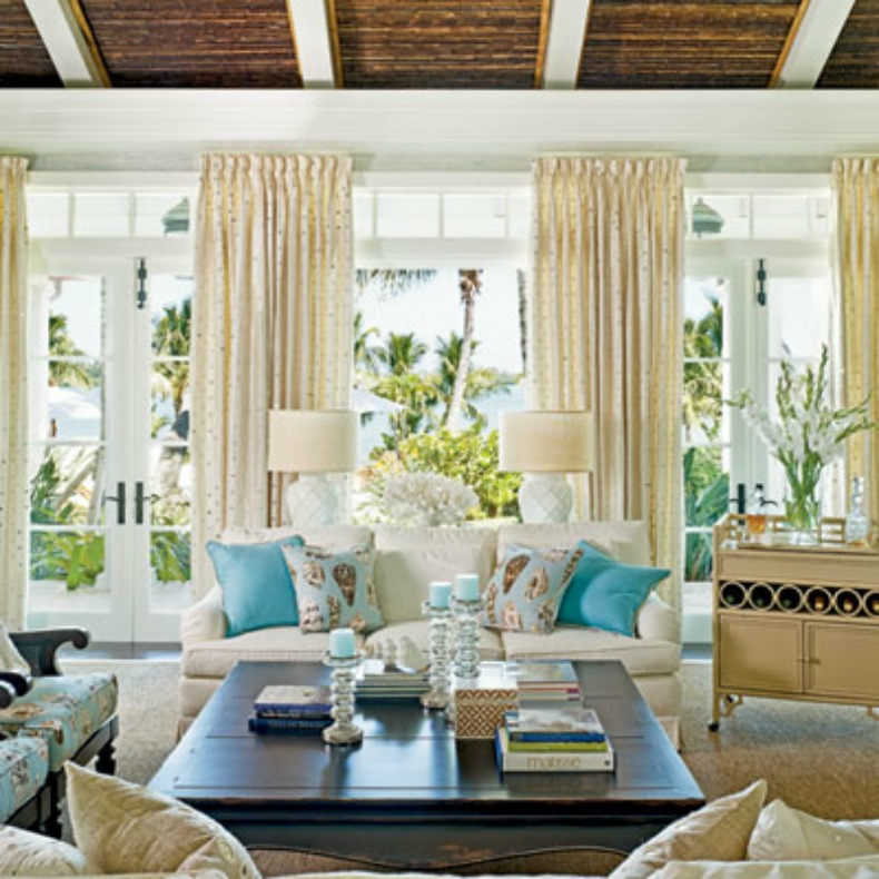 Seashells And Shades Of Blue In This Serene Room With A View White
