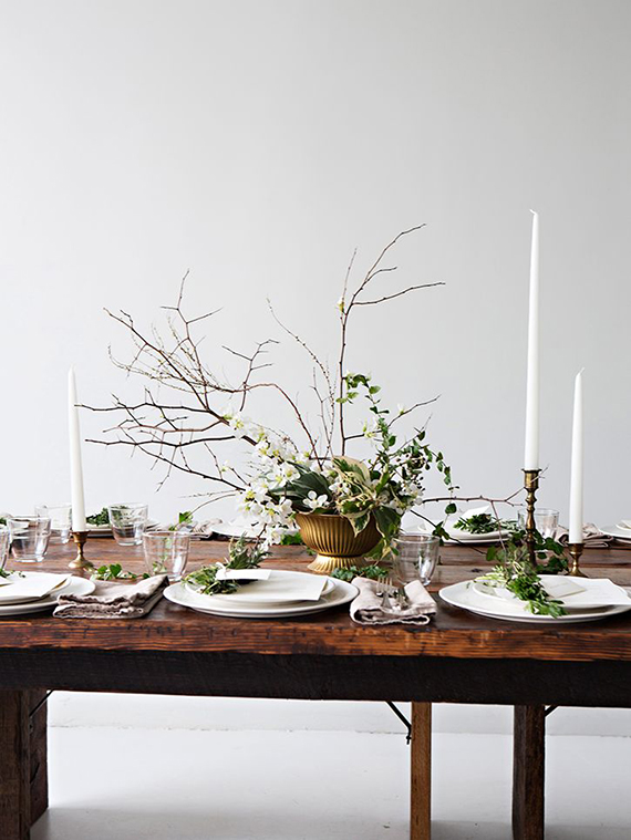 Understated festive table setting ideas | Sunday Suppers
