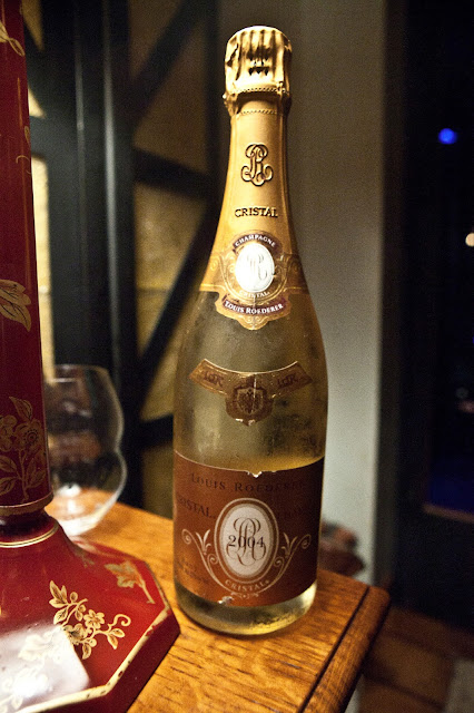 Bouley private dining room Cristal Bottle