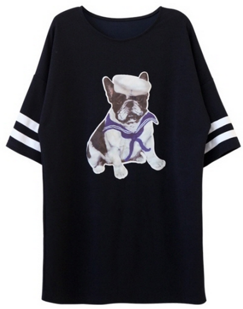 Sailor Pug Print T-Shirt