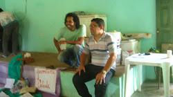 Padre Alex e seu assessor.