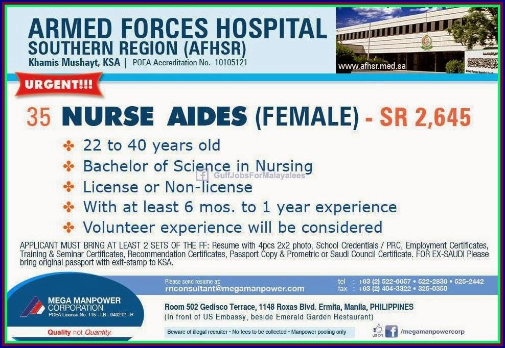 Armed Force Hospital Ksa Jobs Gulf Jobs For Malayalees