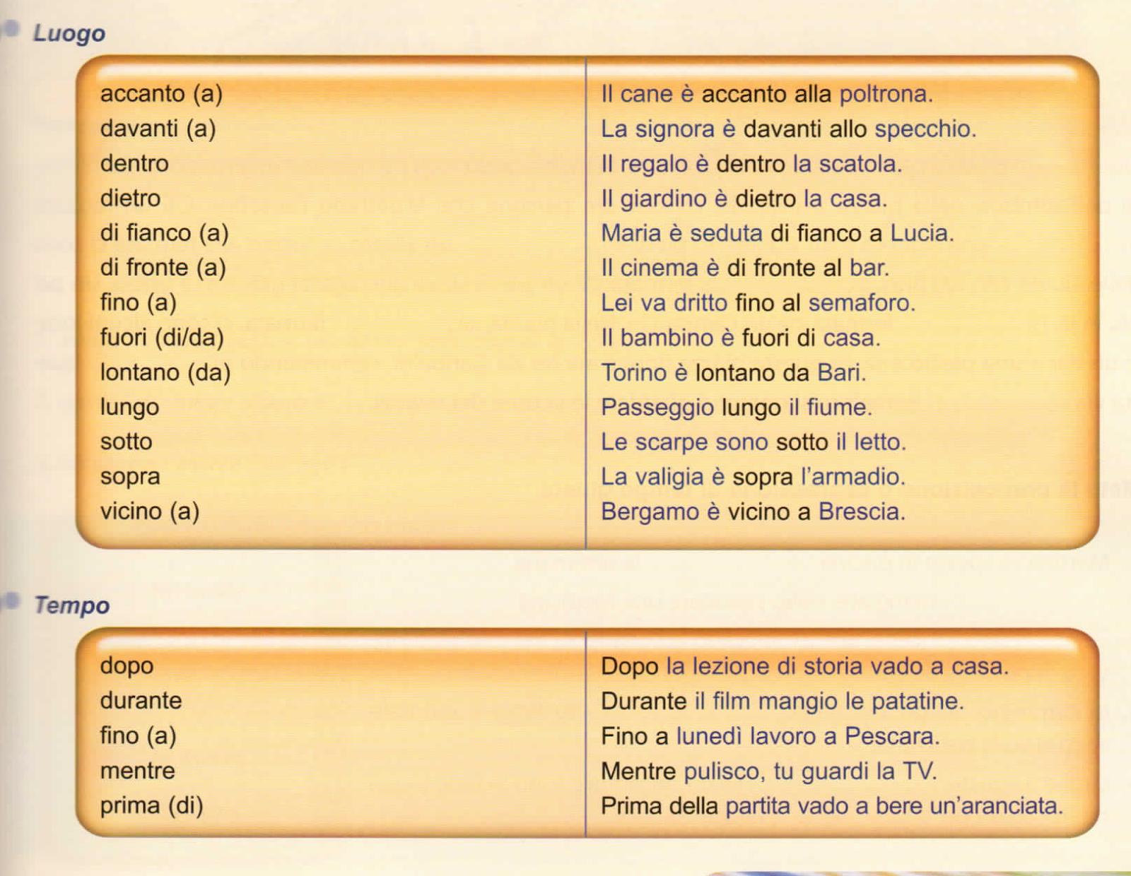 итальянские предлоги