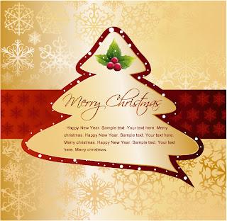 クリスマスツリーを型どった背景 christmas tree tags vector イラスト素材