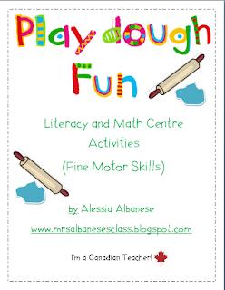 Mrs albanese 39 s kindergarten class literacy centers 101 for Playdough fine motor skills