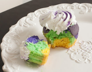 Mardi Gras King Cupcakes by Frog Prince Paperie
