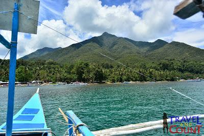 Mountainside view of Sabang Port