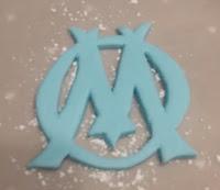logo olympique de Marseille en pate à sucre