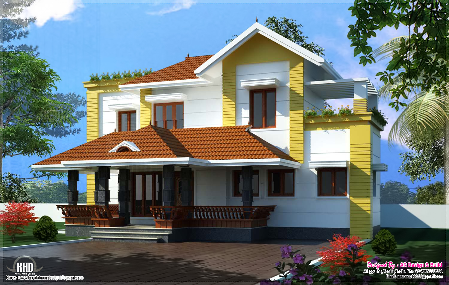 Traditional mix with contemporary residence in 2400 sq for Traditional home plans and designs