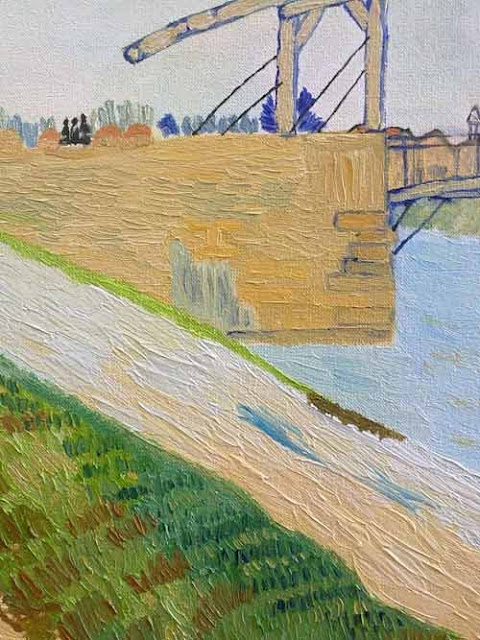 detalle de la copia del cuadro de van gogh