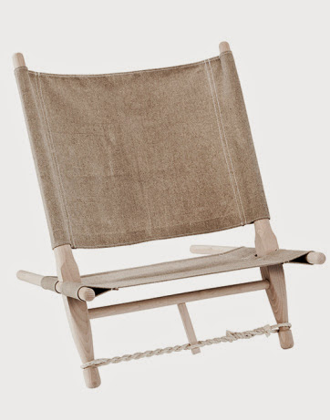 Homemade Burlap Sack Camp Chair