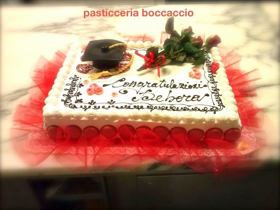 Pasticceria boccaccio torte laurea for Decorazioni per torte di laurea