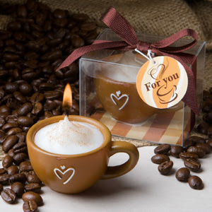 Coffee Candles Coffee Inspired Wedding Favors