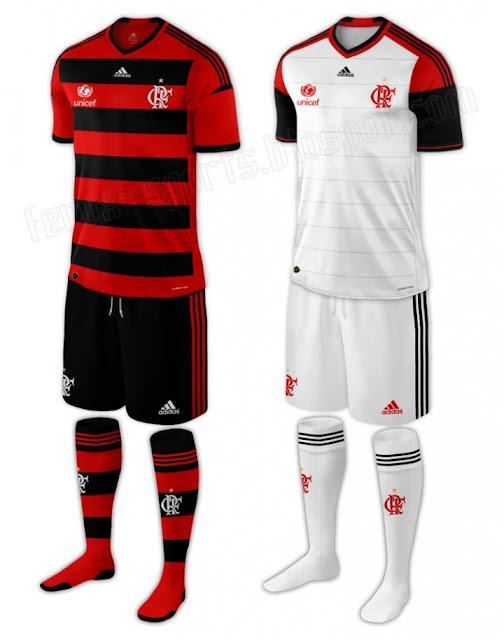 Uniforme Flamengo Adidas 2013