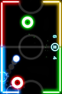 Glow Hockey APK playing ball