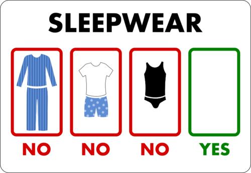 Sleepwear Naked Yes