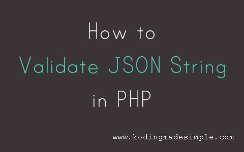 php-validate-json-string-format