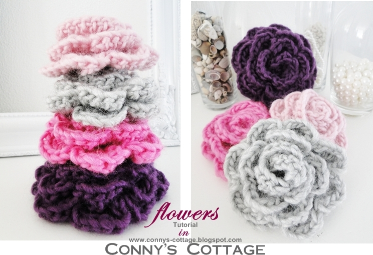 Connys Cottage Tutorial For Crochetflowers