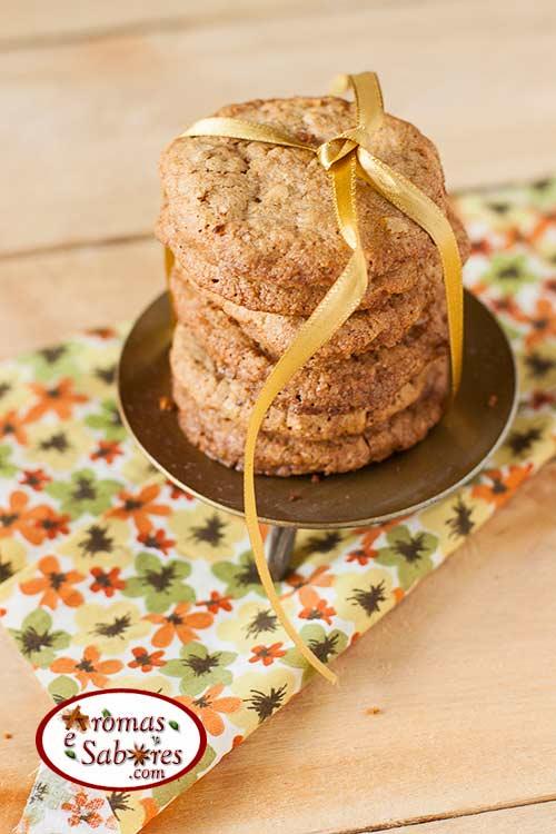 Biscoito crocante de aveia