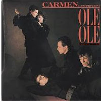 """Conspiración: de la habanera de """"Carmen"""" de Bizet; letra, Luis G. Escolar; arreglos musicales, L. Cobos [Grabación sonora] El ritmo es el escándalo, G. Montesano; arreglos, Luis Cobos]. Madrid: Discos CBS, 1983."""