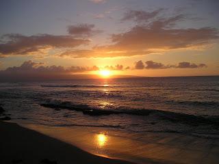 Sunset on Waiohuli Beach