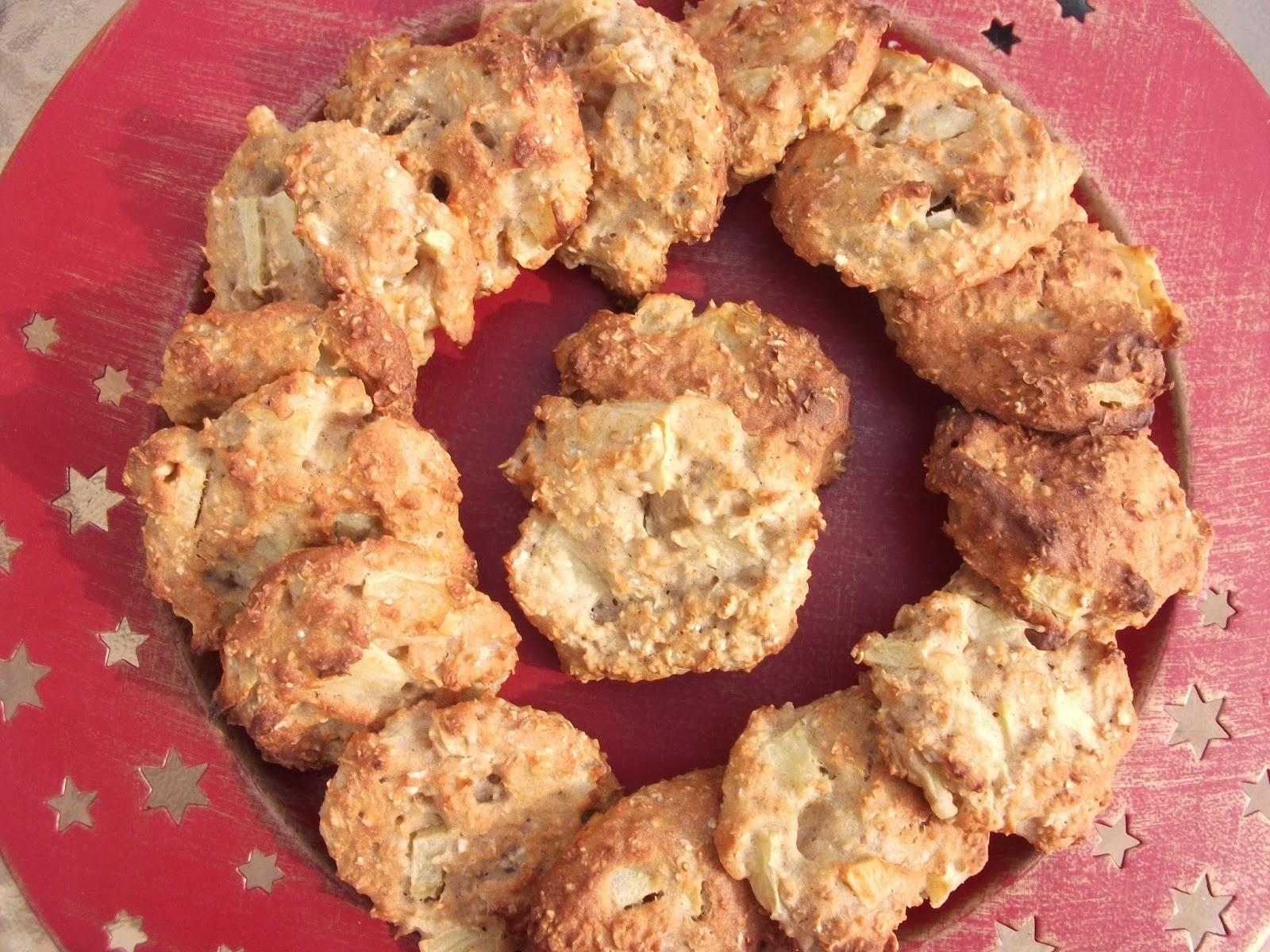 Receta galletas avena y manzana
