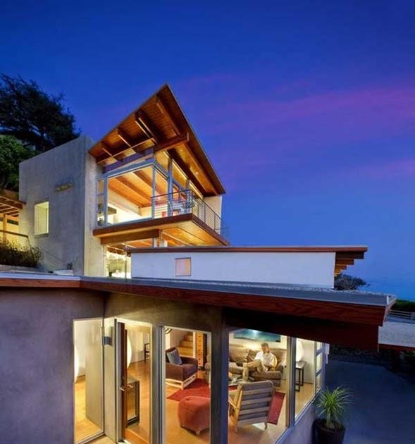 Decora y disena casa moderna de playa con vistas a laguna for Casa moderna 7 mirote y blancana