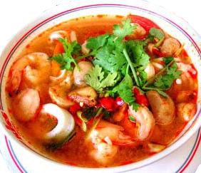 gambar sup tomat bola udang