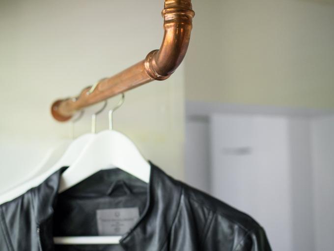 naulakko eteiseen kupariputkesta, copper coat rack, diy naulakko, diy kupariputki