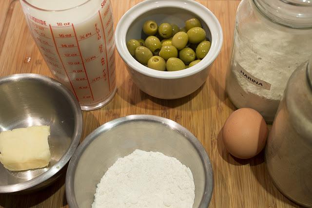 ingredientes Bolitas de aceituna villaroy