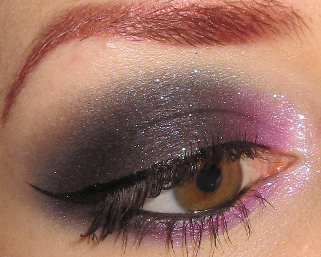 glitter is my crack dramatic violet and black eye