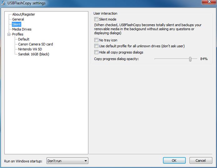 USBFlashCopy Portable بسرية,بوابة 2013 silent-copy-settings