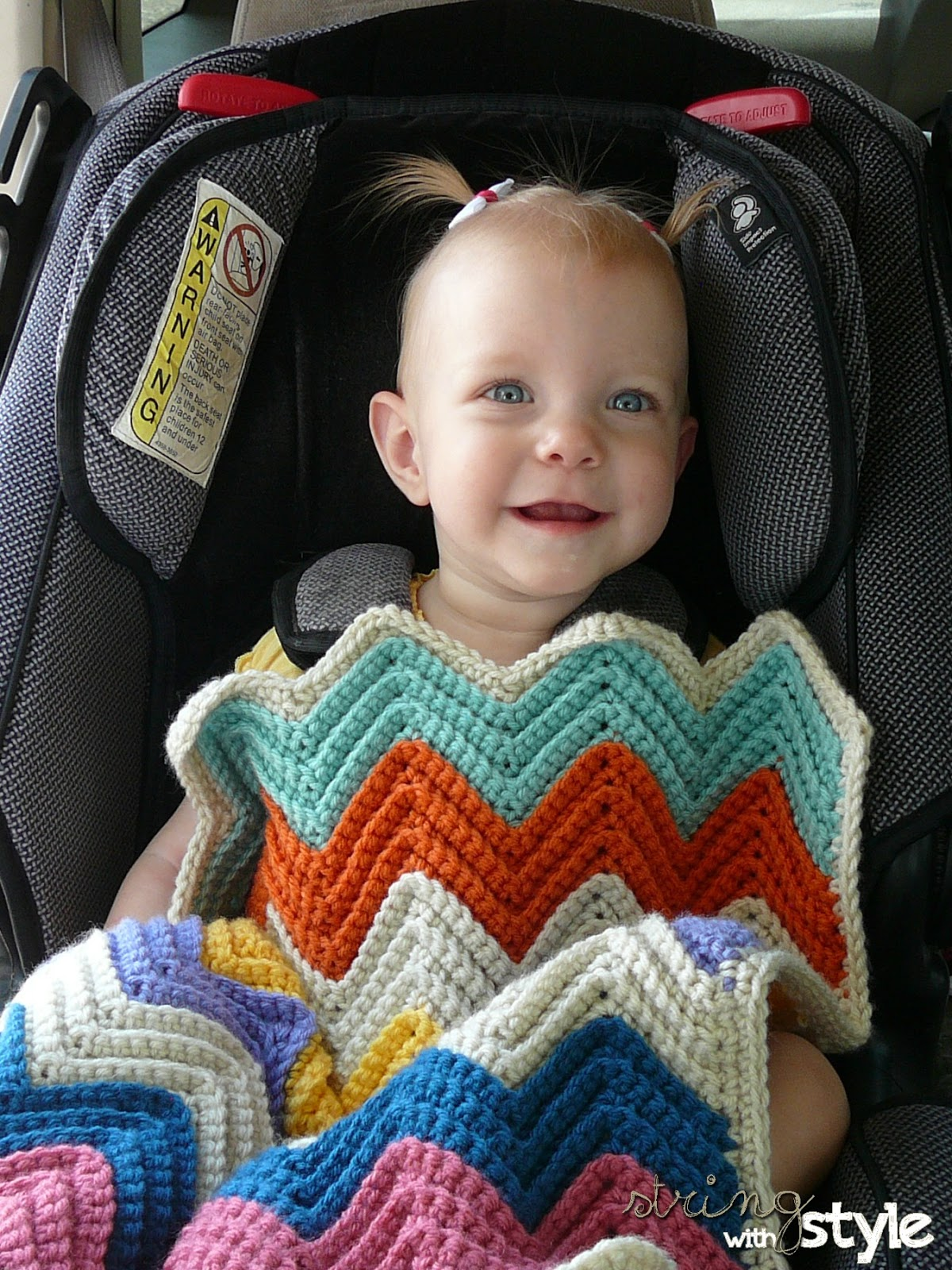 String With Style: Chevron Love Afghan