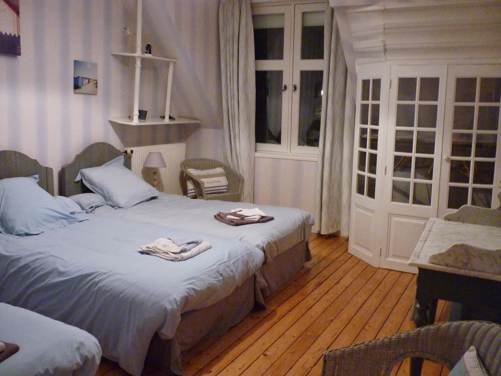 Chambre triple n°1 du Manoir de Beaurepaire en Normandie