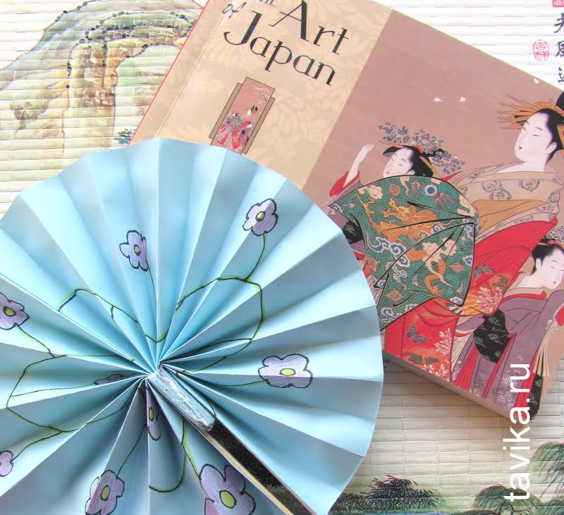 Японский веер мастер класс поделка #2