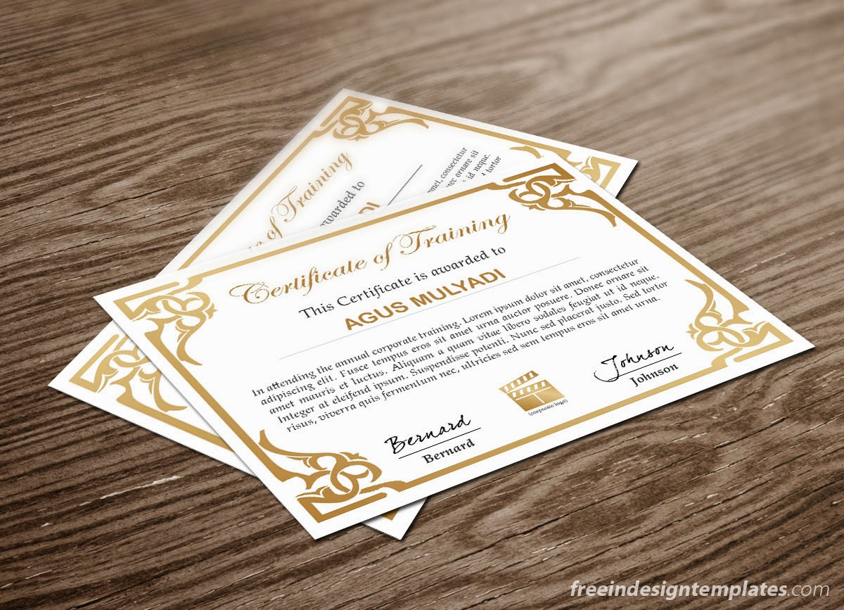 Free InDesign Certificate Template #1 | Free InDesign Templates Download