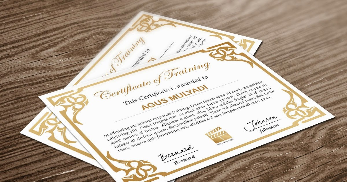 Free Indesign Certificate Template 1 Free Indesign Templates Download