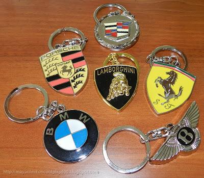 Auto logo keychains