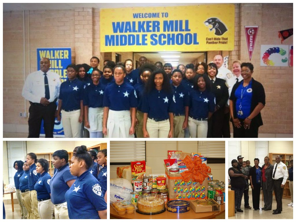 Click HERE to view photos from the PGSO's Positive D.A.Y. Cadets holds Holiday Meal Donation at Walker Mill Middle School