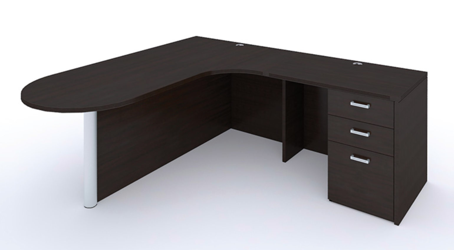 Amber Bullet Desk by Cherryman