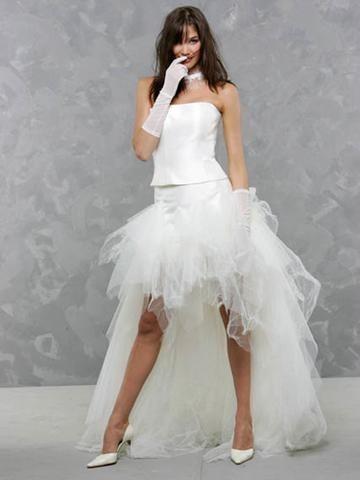 ... robes de soirée et décoration: Robe de mariée courte devant longue