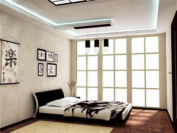 Japanese bedroom lighting ideas